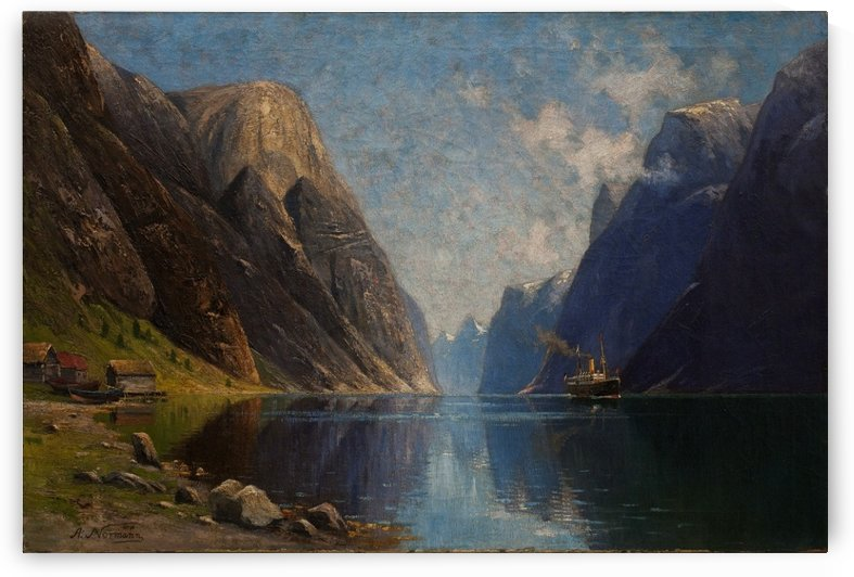 Norvegijos fiordas by Adelsteen Normann