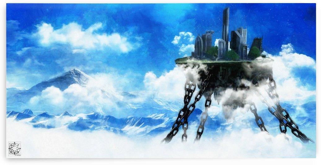Skysunder City by ChrisHarrisArt