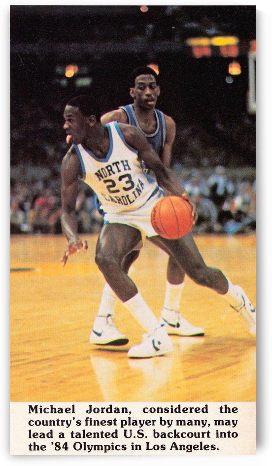 1984 Michael Jordan North Carolina Poster Sale by Row One Brand