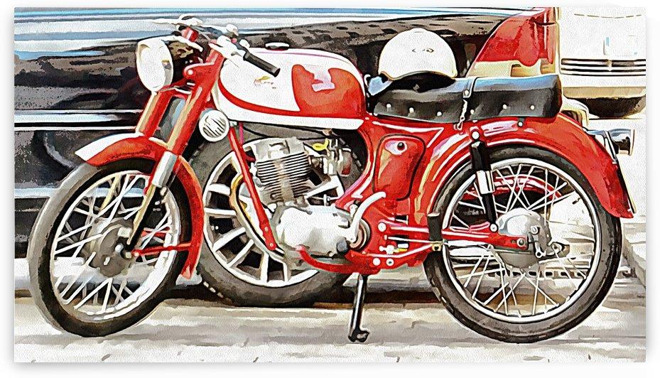 Red Moto Morini Corsaro 125 by Dorothy Berry-Lound