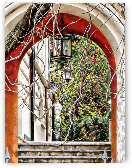 Through the Archway to the Garden in Rome by Dorothy Berry-Lound