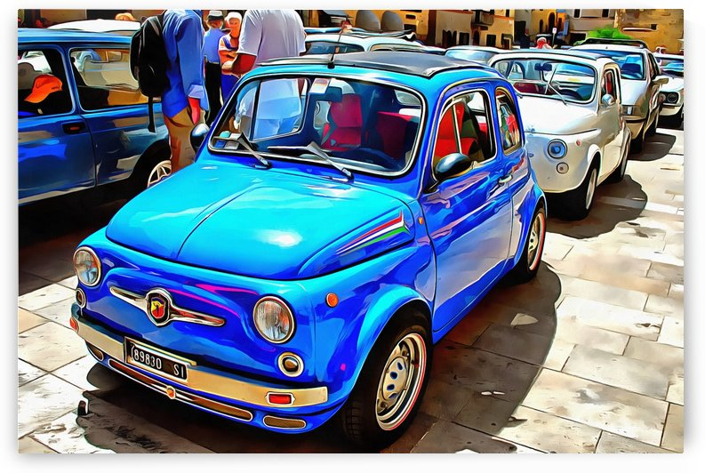 Fiat 500 Abarth Blue Version by Dorothy Berry-Lound
