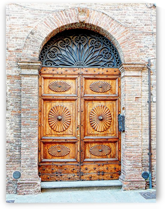 Ornate Wooden Door Citta della Pieve 3 by Dorothy Berry-Lound