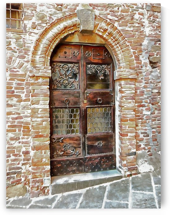 Ornate Door Panicale Italy by Dorothy Berry-Lound