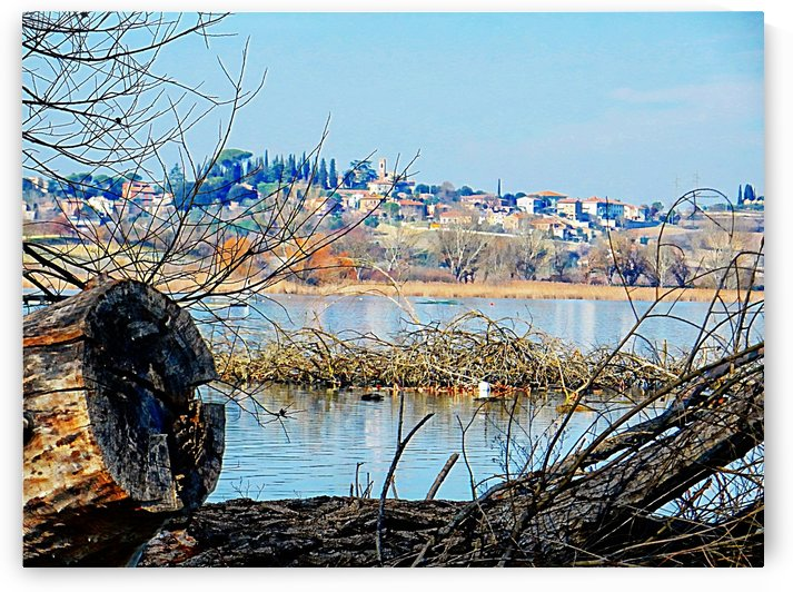 View from Lago di Chiusi to Vaiano by Dorothy Berry-Lound