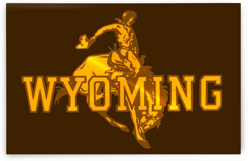 vintage wyoming cowboys art by Row One Brand
