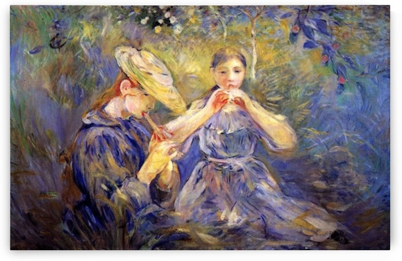Little Flute players by Morisot by Morisot
