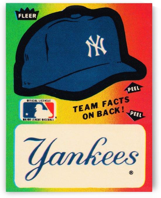 1982 fleer sticker new york yankees hat by Row One Brand