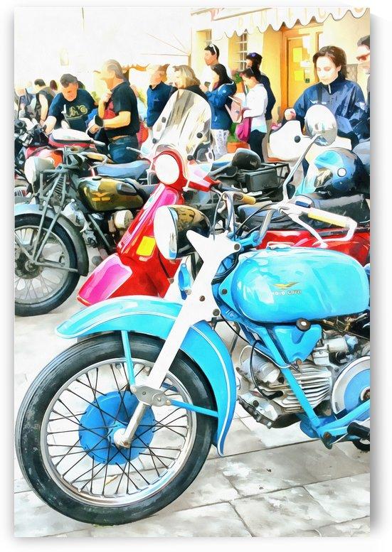Moto Guzzi and Lambretta Enthusiasts by Dorothy Berry-Lound