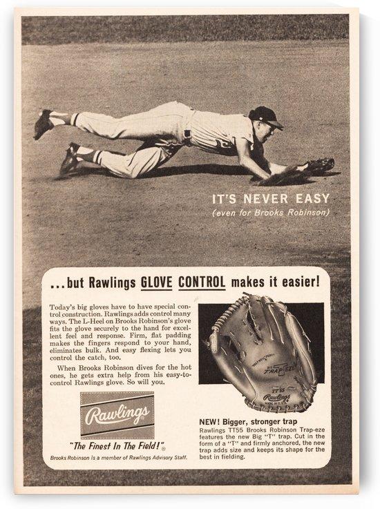 1963 brooks robinson rawlings baseball glove ad by Row One Brand