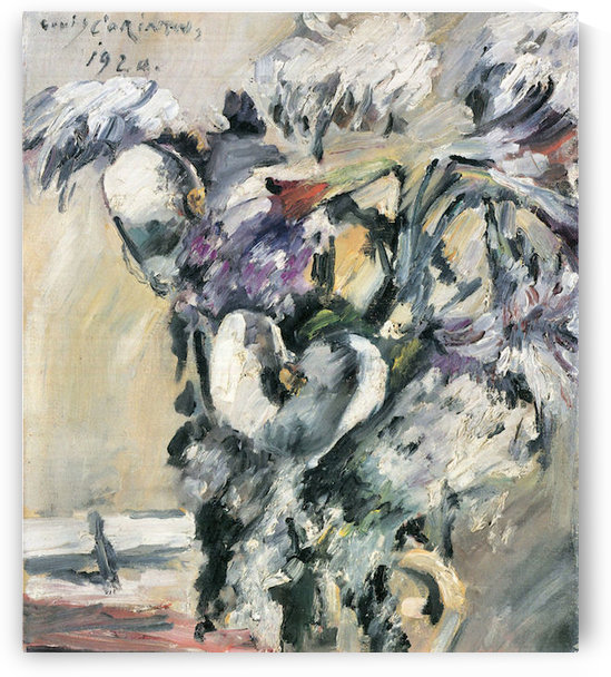 Chrysanthimums and Calla Lillies by Lovis Corinth by Lovis Corinth