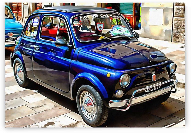 Fiat 500 Dark Blue Version by Dorothy Berry-Lound