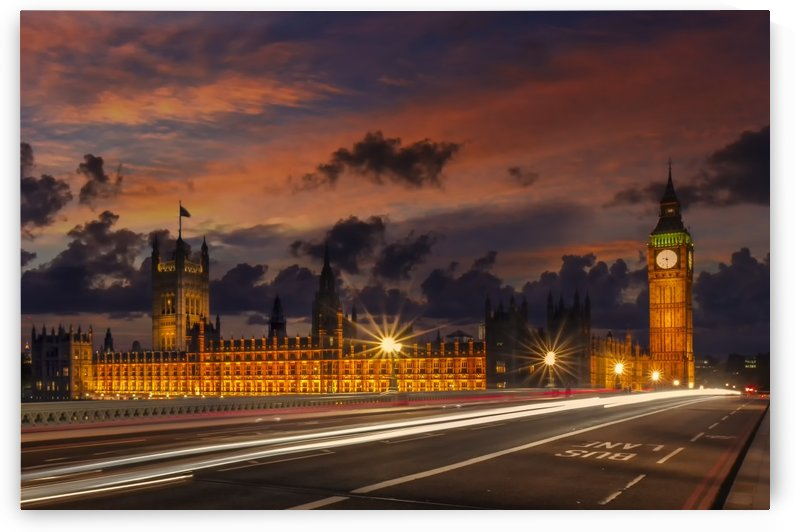 Nightly view from London Westminster  by Melanie Viola