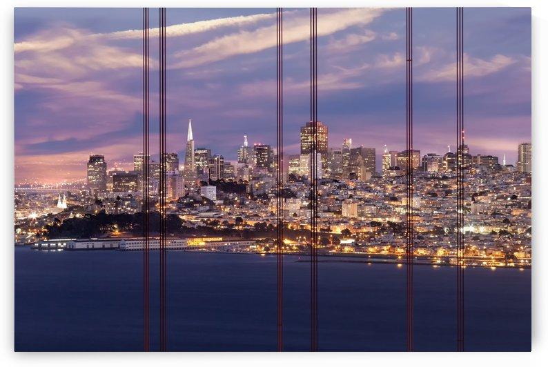 SAN FRANCISCO Evening Skyline  by Melanie Viola