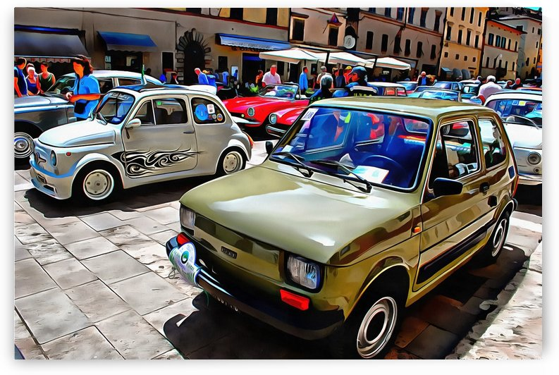 Fiat 126 Front View by Dorothy Berry-Lound