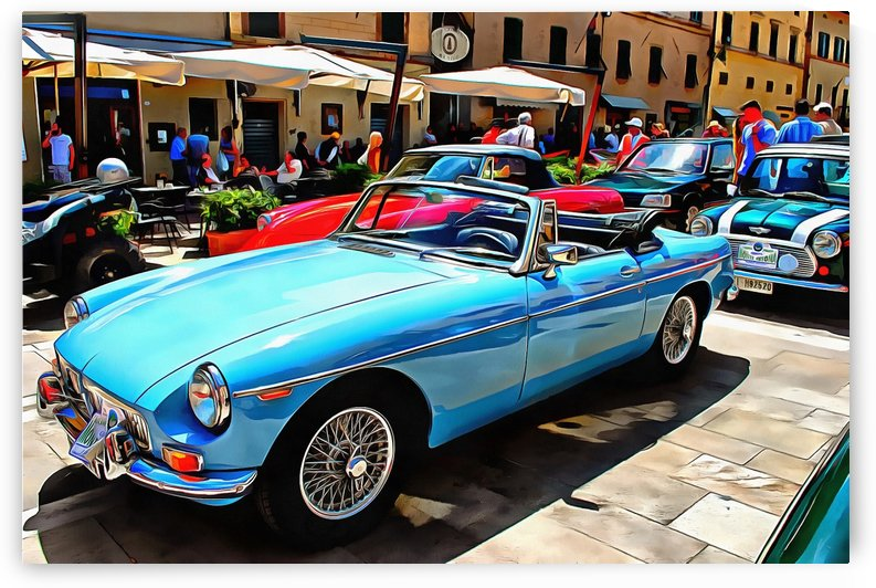 MGB Blue by Dorothy Berry-Lound