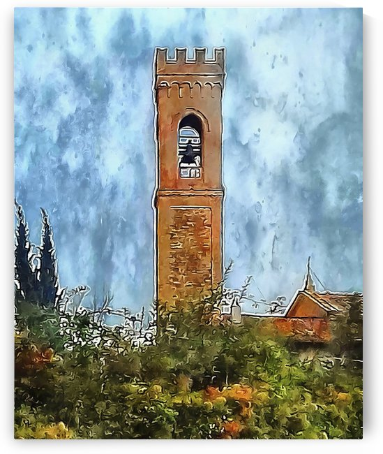 Campanile Perugia Italy by Dorothy Berry-Lound