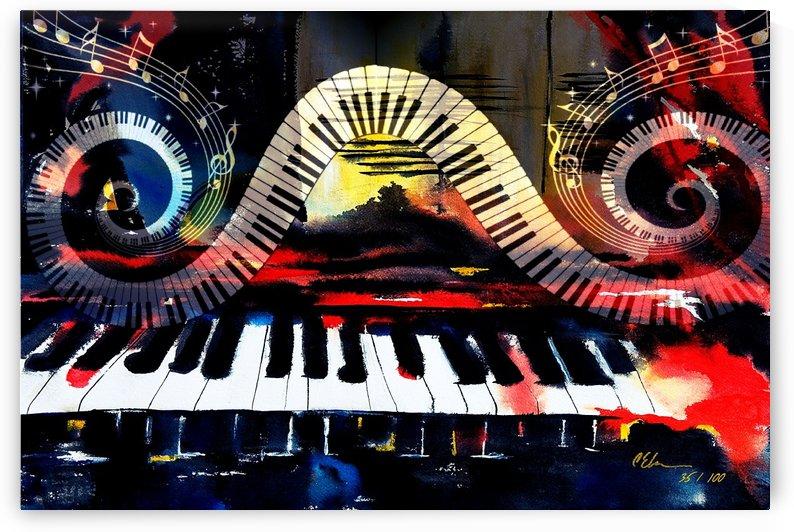 Smokin Piano Keys by Cheryl Ehlers