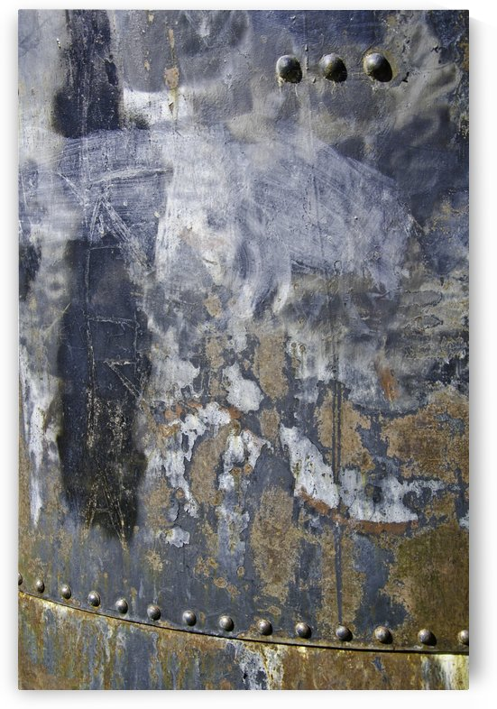 Texture on Steel Wall by David Pinter