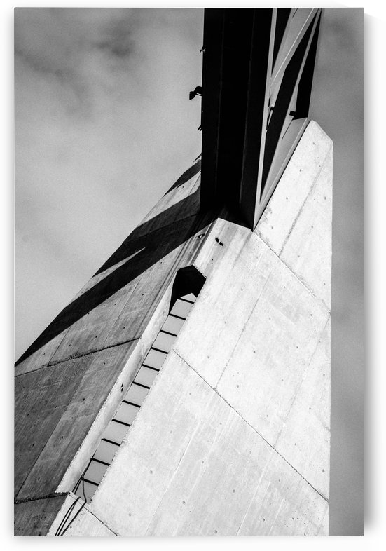 Concrete Building and Sky by David Pinter