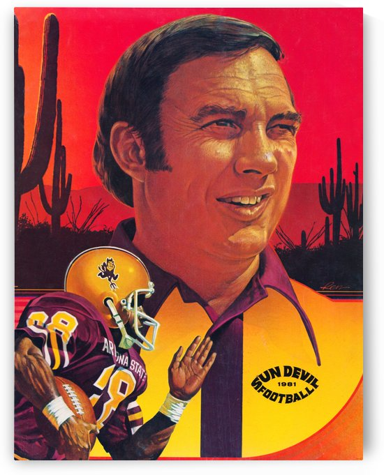 1981 arizona state sun devil football darryl rogers chuck ren artist by Row One Brand
