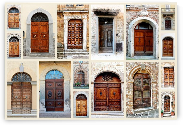 Italian Ornate Wooden Doors Collage by Dorothy Berry-Lound
