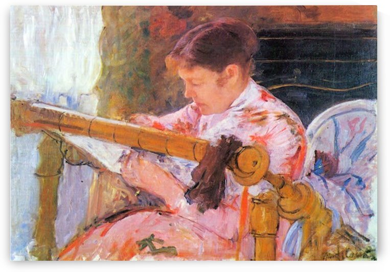 Lydia at the cord framework by Cassatt by Cassatt