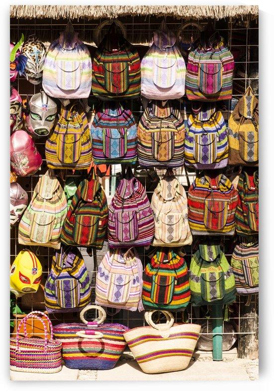 Roatan Colorful Knapsacks by David Pinter