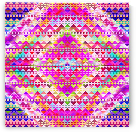 Mayan Pattern Pink by CvetiArt