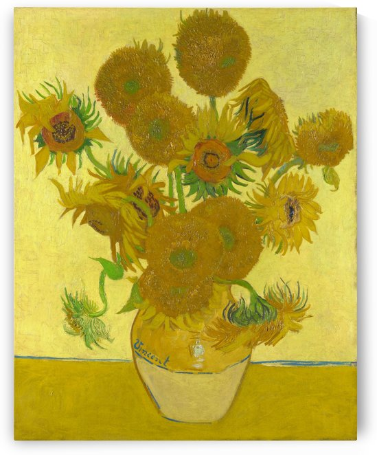 Vincent van Gogh: Sunflowers HD 300ppi by Famous Paintings