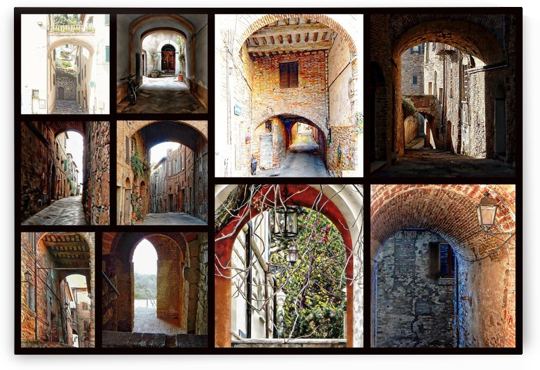Italian Archways Collage by Dorothy Berry-Lound