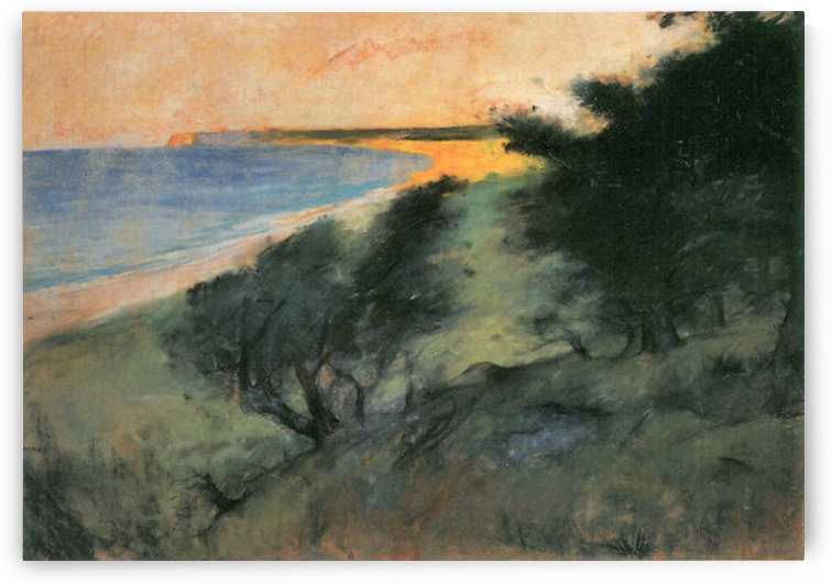 Coast of Rugen by Lesser Ury by Lesser Ury