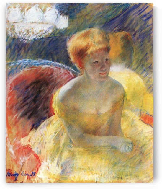 Lydia, the arms rested, in the Theater loge by Cassatt by Cassatt