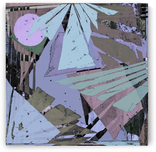 Broken window pane by Keith Mills