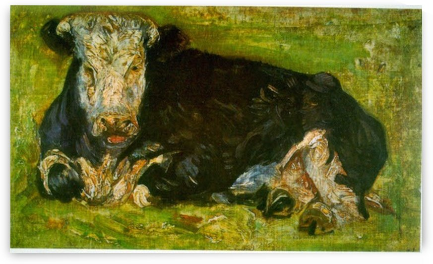 Lying Cow by Van Gogh by Van Gogh