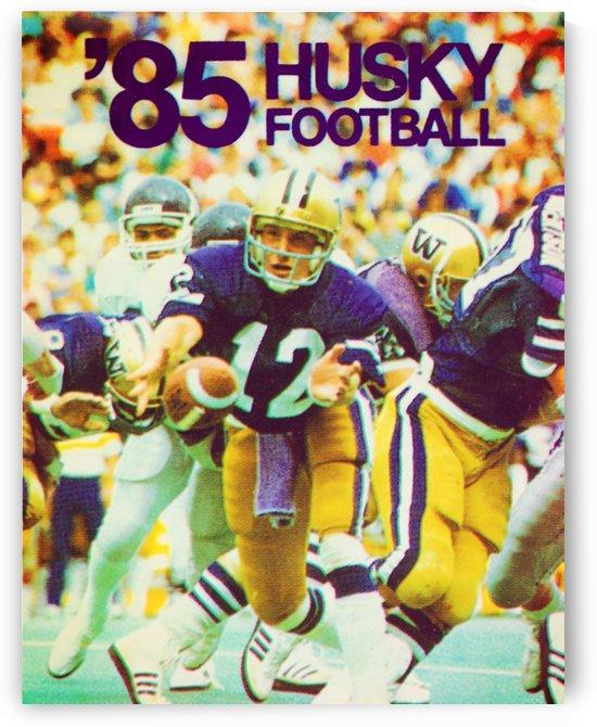 1985 washington husky football poster by Row One Brand
