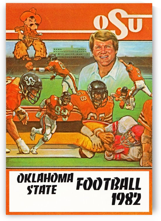 1982 oklahoma state cowboys football by Row One Brand