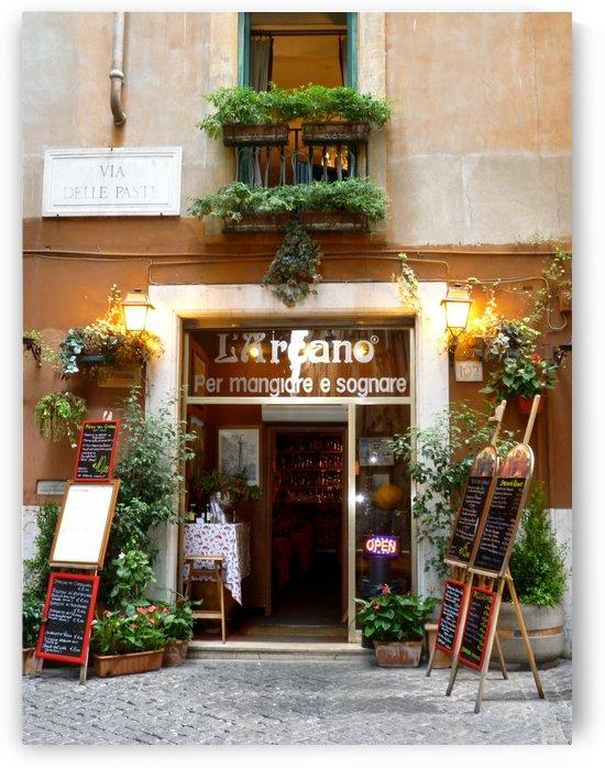Local Restaurant Rome Italy by Morteza Golpoor