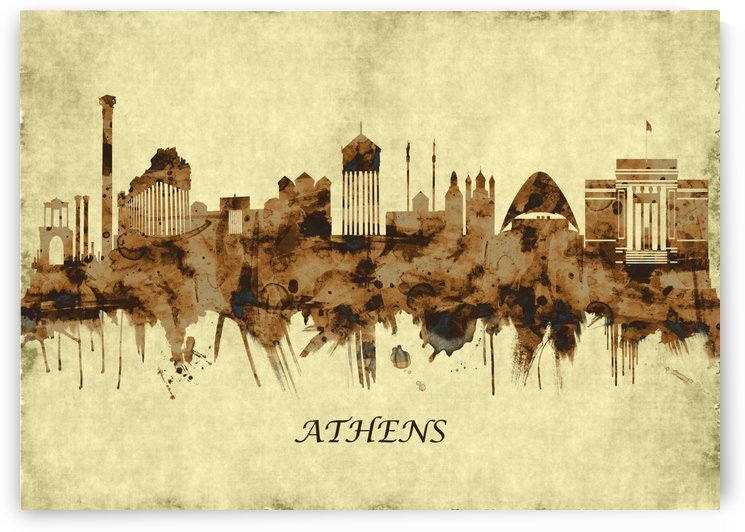 Athens Greece Cityscape by Towseef