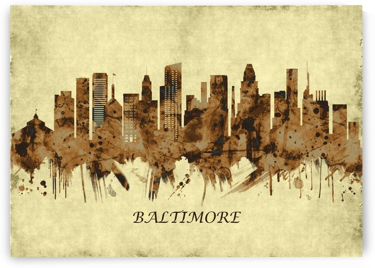 Baltimore Maryland Cityscape by Towseef