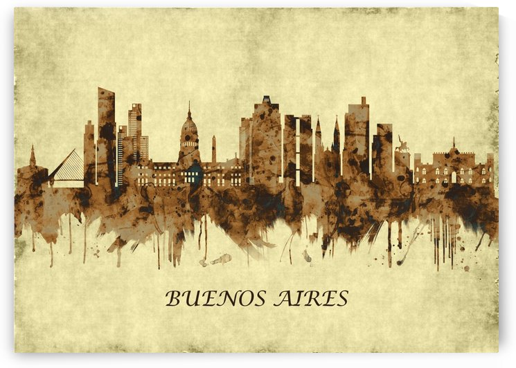 Buenos Aires Argentina Cityscape by Towseef