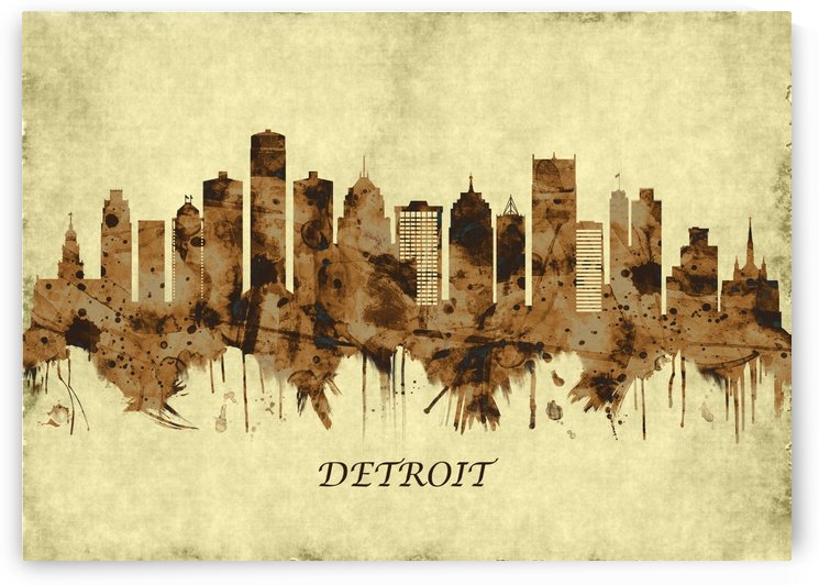 Detroit Michigan Cityscape by Towseef