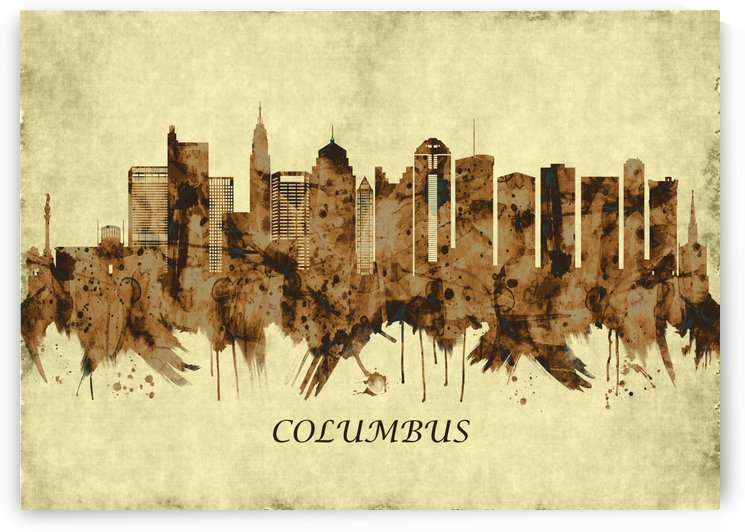 Columbus Ohio Cityscape by Towseef