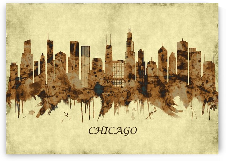 Chicago Illinois Cityscape by Towseef