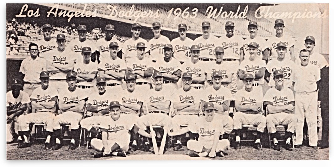 1963 la dodgers world champions team photo by Row One Brand