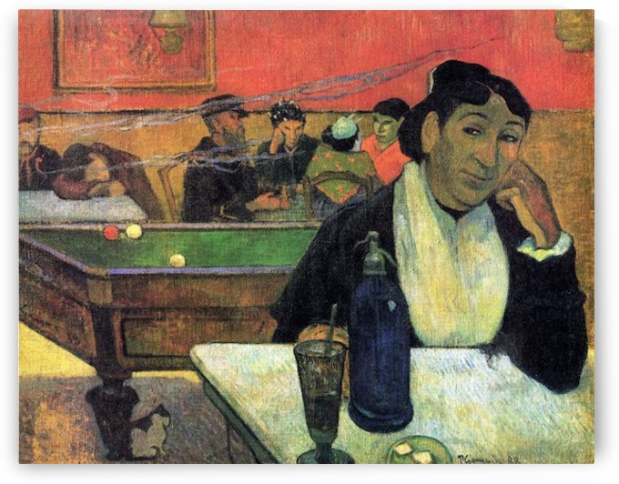 Madame Ginoux in Cafe by Gauguin by Gauguin