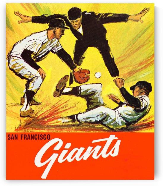 1965 san francisco giants vintage baseball print by Row One Brand
