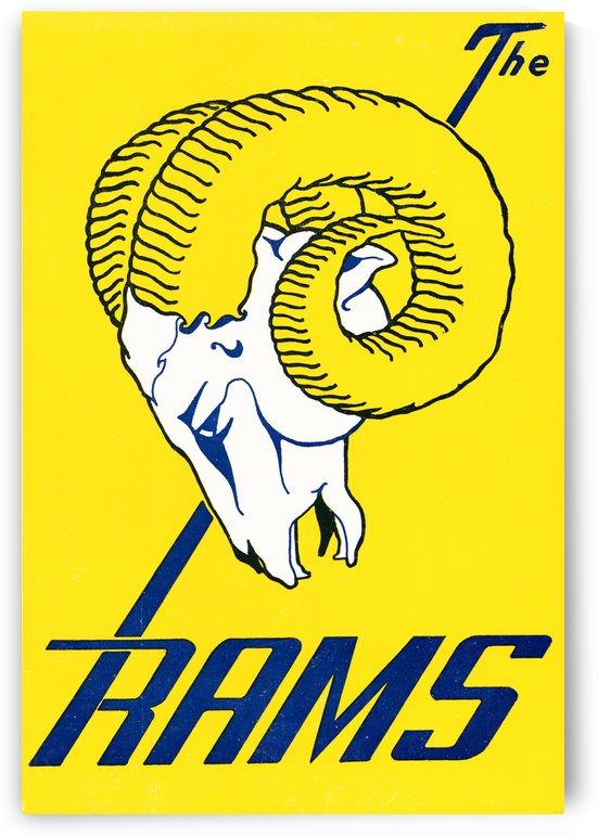 vintage los angeles rams art by Row One Brand
