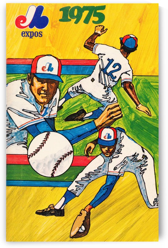 1975 montreal expos baseball art by Row One Brand