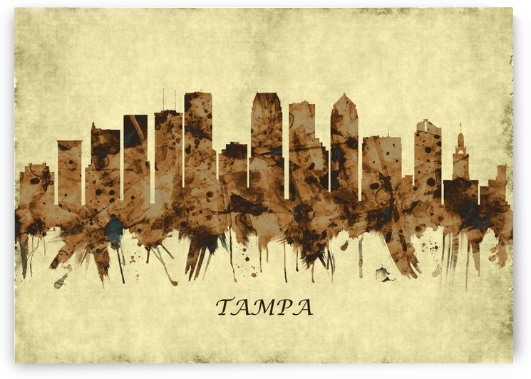 Tampa Florida Cityscape by Towseef